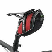 RockBros Bicycle Saddle Bag Reflective Rear Seatpost Bike Red Rainproof Bag