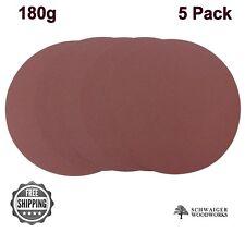 "Klingspor 10"" inch Sanding Disc, 180 grit, 5 Pack, Peel & Stick, Made in Germany"