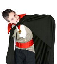 Mantello vampiro per bambini nero e rosso Halloween Dracula