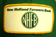 NEW HOLLAND FARMERS BANK trucker cap 1970s hat Illinois MAGNA w/ patch