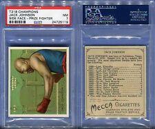 1910 T218 CHAMPIONS JACK JOHNSON SIDE FACE-PRIZE FIGHTER PSA 7 (5119)