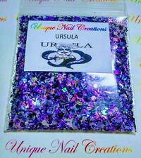 Limited Edition Glitter Mix~URSULA*Disney Villiains~ Comes W Alloy~ Nail Art