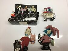 Nightmare Before Christmas Lot of 4 items (figurine set, lock & shock dolls, tub
