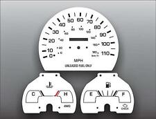 1992-1994 Toyota Pickup Truck Non-Tach Dash Instrument Cluster White Face Gauges