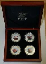 Cambodia 2007 Lunar Year of the Pig - Four Coin Set 4 OZ Pure .999 Silver RARE