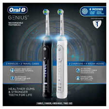 Oral-B Genius 2-Pack Rechargeable Toothbrushes - Bluetooth Connectivity