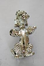 Vintage Signed Gerry'S Silvertone Poodle Dog Shape Pin Brooch
