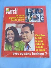 PARIS MATCH N° 1366 du 2 août 1975 APOLLO SOYOUZ , SOAREZ , Claude Francois