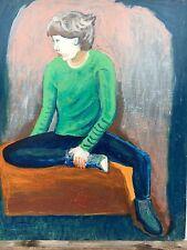 Giovanotto con rigogliosi Pullover-expressiv-Young Man 61 x 51