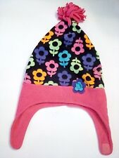 Jumping beans winter hat kids, 2T- 4T, 100% Polyester, purple colorful flowers