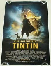THE ADVENTURES OF TIN TIN 27X40 DS MOVIE POSTER ONE SHEET NEW AUTHENTIC