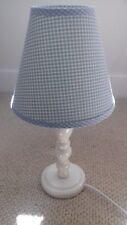 Laura Ashley blue gingham table lamp