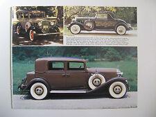 1932 BUICK 90 MODEL 91 CHEVROLET CONFEDERATE BA CADILLAC SERIES 355 B PRINT AD