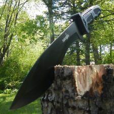 "15"" SURVIVAL HUNTING Full Tang Kukri FIXED BLADE KNIFE Machete Axe w/ SHEATH"