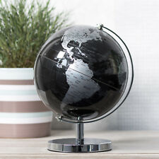 18cm Black World Globe Vintage Rotating Atlas Home Decor Office Desk Ornament