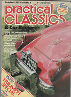PRACTICAL CLASSICS Car Magazine October 1987 - Triumph, Ford Cortina Mk 1