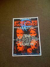 FEAR FACTORY -  Fear Is The Mindkiller 1993 Australian Tour Poster