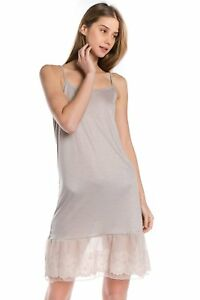 Women's Circle Lace Knit Full Slip with Adjustable Straps