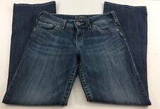 Silver Suki Waist 29 Length 32 Bootleg Women's Jeans