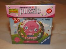 """Moshi Monsters Ravensburger 3D Puzzle - NEW - Poppet - 54 pc 2.7"""" round"""