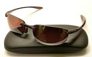 MAUI JIM HO'OKIPA RX MJ 907-10 Brown Plastic Prescription Sunglasses JAPAN