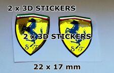 2x 3D AUFKLEBER -STICKERS- FERRARI BADGE EMBLEM Logo / Aufkleber chrome effect