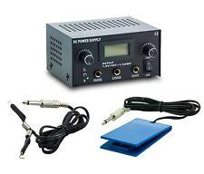 3in1 Tattoo Set Digital Netzteil Power Supply Fußpedal mit Clipcord Kabel N12-02