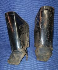 1942-52 HARLEY DAVIDSON WLA Military Leg Guard Shields Old Original