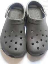Crocs Brown Men Size 8 Women size 10 Unisex Clogs Slingback Good Condition shoes