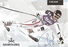 Autogramm AK Elisabeth Görgl Goergl Olympiabronze Weltmeister Ski-alpine Milka
