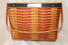 2001 Collectors Club Whistle Stop Longaberger Basket Combo