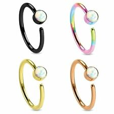 Body Jewelry Piercing Nose Hoop Ring Lot Stainless Steel 20G (8mm) Value Pack