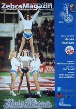Programm 1999/00 MSV Duisburg - Hansa Rostock