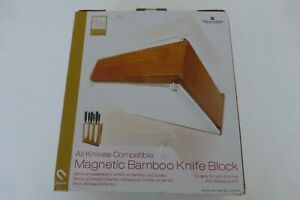 Grunweg Magnetic Knife Block, Made of Bamboo & Glass