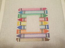 New ListingSmall Crayon Picture Frame-Handpainted Needlepoint Canvas