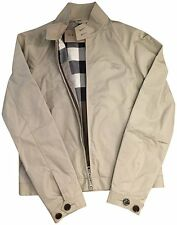 New BURBERRY Men AMHURST Stone Check Light Weight Windbreaker Coat Jacket $495 S