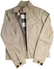 New BURBERRY Men AMHURST Stone Check Light Weight Windbreaker Coat Jacket $495 S