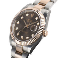 Rolex DATEJUST 41mm 126331 Mens Steel & Pink Gold Oyster Chocolate Diamond Dial
