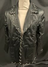 SDL Steampunk Gothic Leatherette Jacket With Chains By Raven SDL M Chest 42.