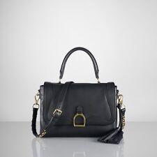 Ralph Lauren Purple Label черный кожаный стремя сумка сумка новая