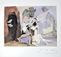 PABLO PICASSO HAND SIGNED SIGNATURE MINOTAUR WITH DEAD MARE IN.. PRINT