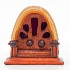 1:12 Miniature Vintage Antique Radio Dollhouse Decoration Accessories U2E2