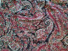 Single Pottery Barn Red Paisley Euro Sham Cotton Linen Blend