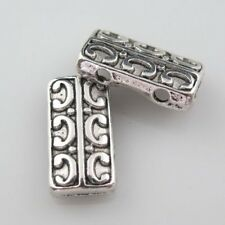 120pcs Tibetan Silver 2-holes Crafts Rectangle Findings Space 14x8mm 9215