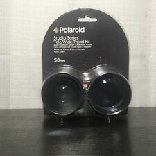 Polaroid Studio Series 58mm 2.2x Telephoto  0.43x Wide Angle Travel Lens Kit