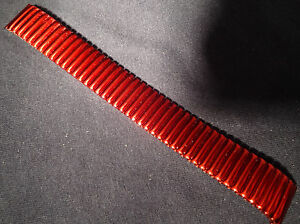 New ROWI Germany 17mm Special 3 Notch Ends Metallic Red Expansion Watch Band