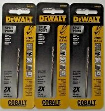 Dewalt Dw1207 764 Cobalt Split Point Twist Drill Bits 3pcs