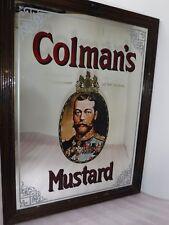 More details for vintage large original colmans mustard mirror picture frame sign .retro  & cool
