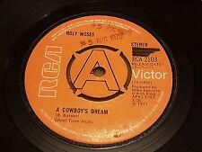 """Holy Moses, A Cowboy's Dream, Agadaga Dooley, 1971, RCA 2103, Promo, 7"""" E+"""