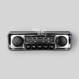 CAR RADIO VINTAGE CLASSIC VW VOLKSWAGEN BEETLE AUX / USB / BLUETOOTH